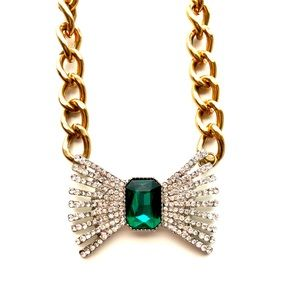 T&J Designs Crystal Bow Necklace